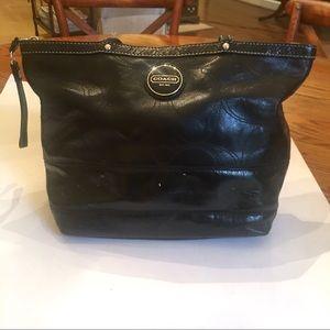 COACH Black Leather Purse Shoulder Bag